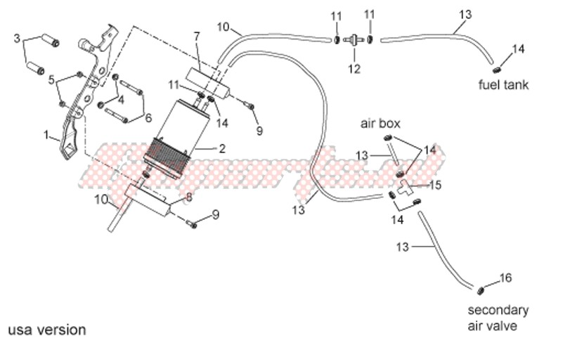 Fuel vapour recover system image