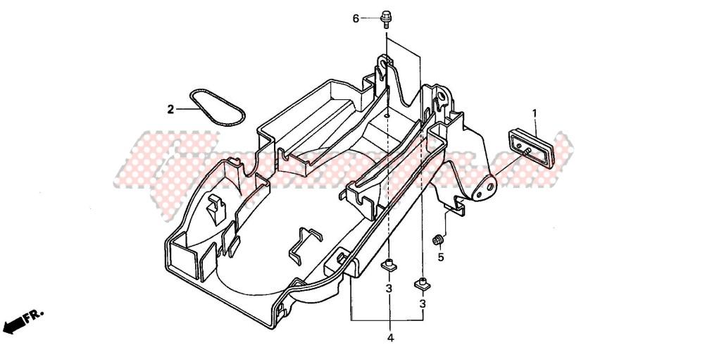 REAR FENDER (CB600F2/F22) image