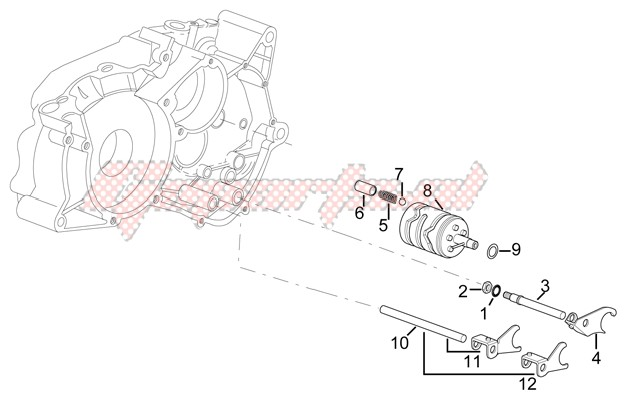 Engine-Gearbox driven shaft II