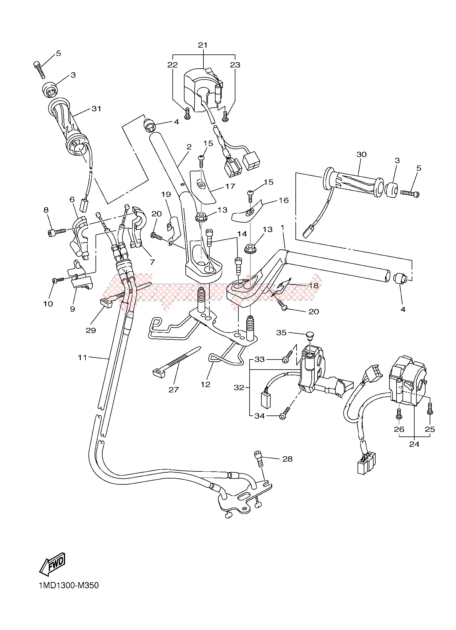 STEERING HANDLE & CABLE blueprint