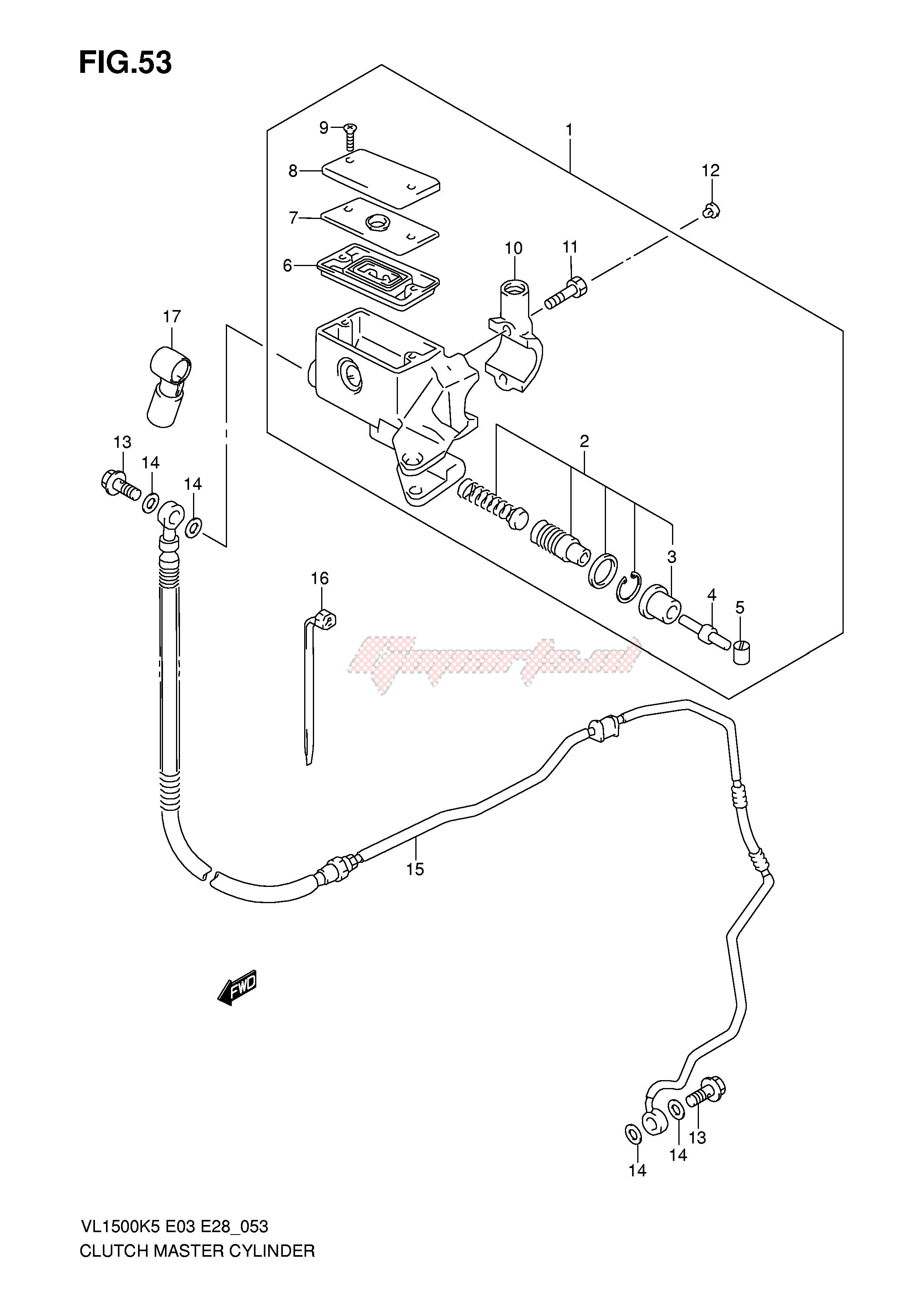Suzuki Master Cylinder Reservoir Diaphragm GSXR1300 VS1400 VL1500 VLR1800
