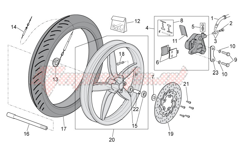 Frame-Front wheel - disc brake