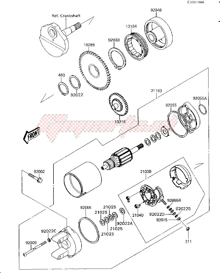 STARTER MOTOR-- JS300-A1- - image