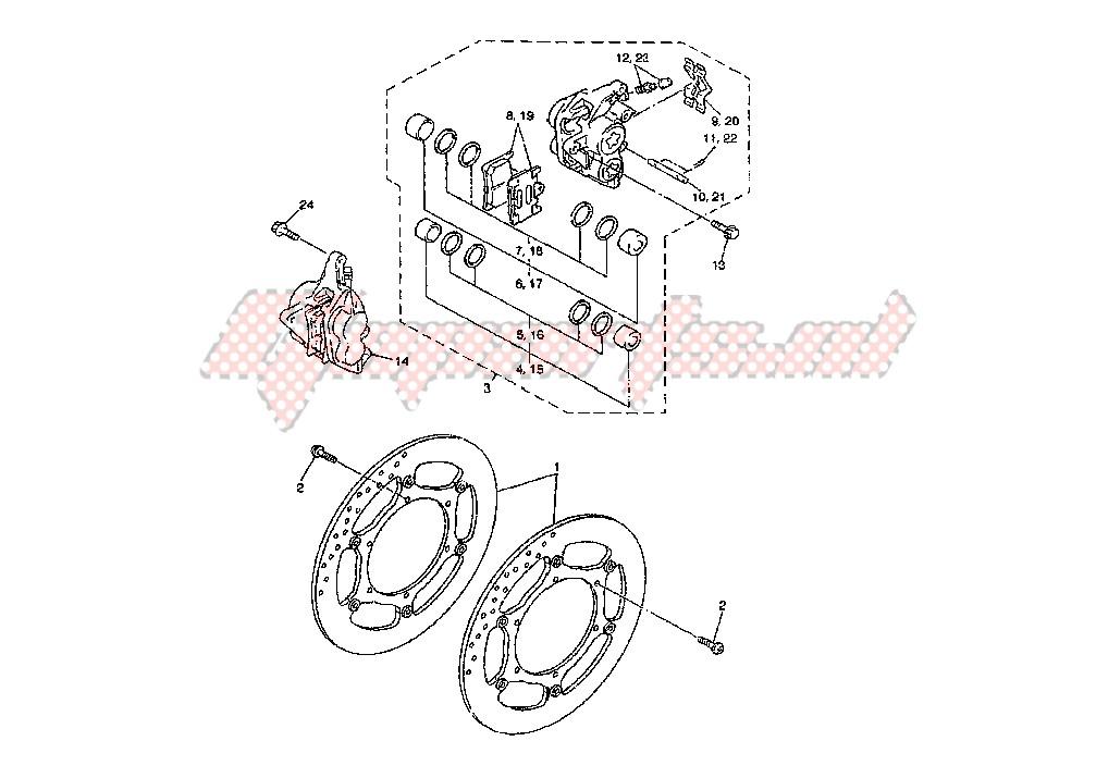 FRONT BRAKE CALIPER blueprint