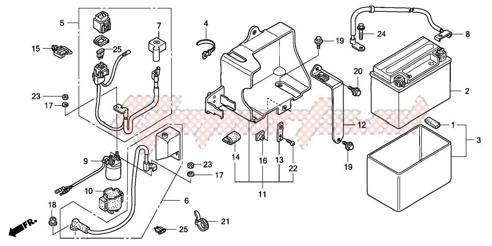 99-04 Honda TRX 400EX 400 EX Engine Motor Ignition Starter Wiring Harness
