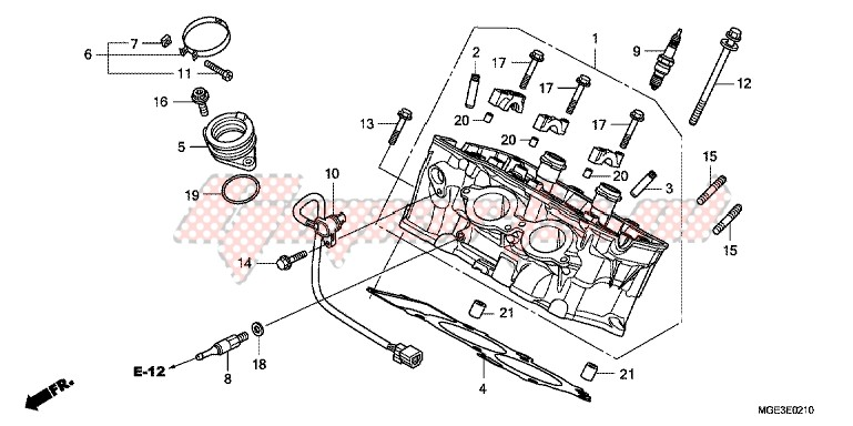 CYLINDER HEAD (REAR) blueprint