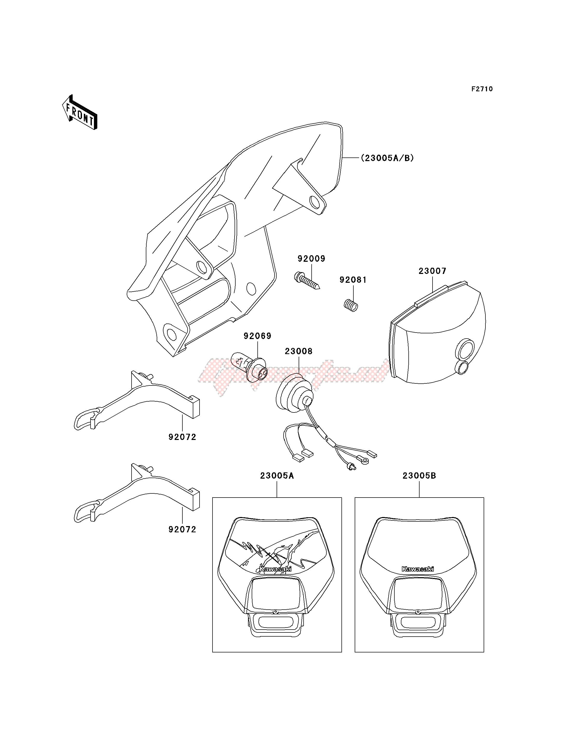 Parts Kawasaki Body-COMP-Head LAMPL 23005-5032-6W Motorcycle & ATV ...