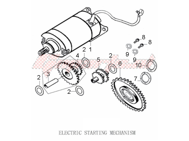 Engine-Electric starter