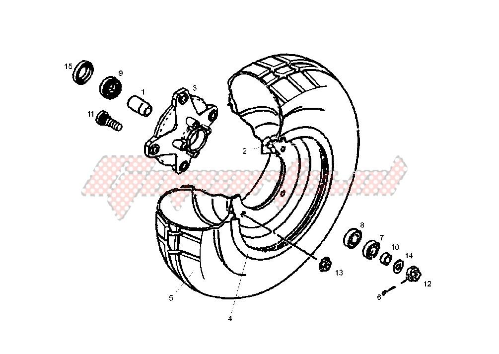 FRONT WHEEL DISC BRAKE image