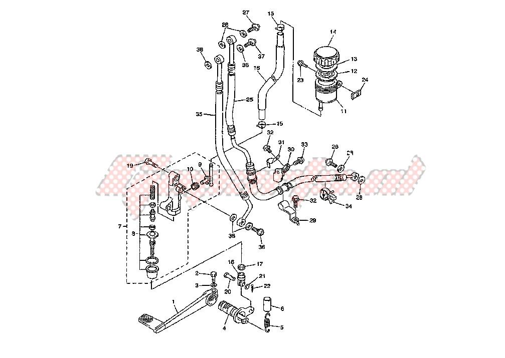 REAR MASTER CYLINDER blueprint