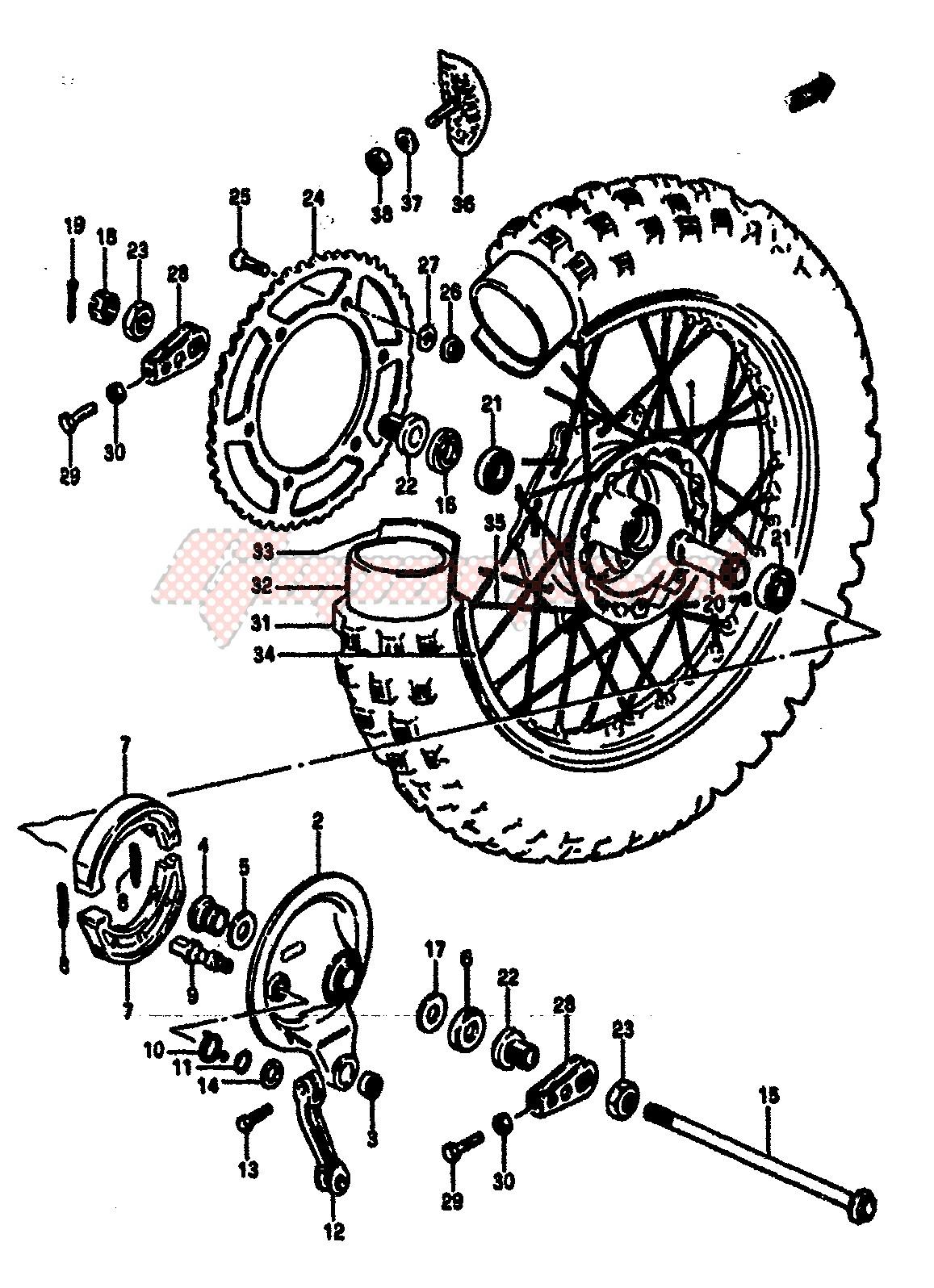 REAR WHEEL (MODEL F) image