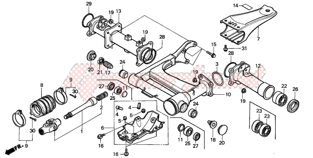 -REAR SWINGARM/ PROPELLER SHAFT