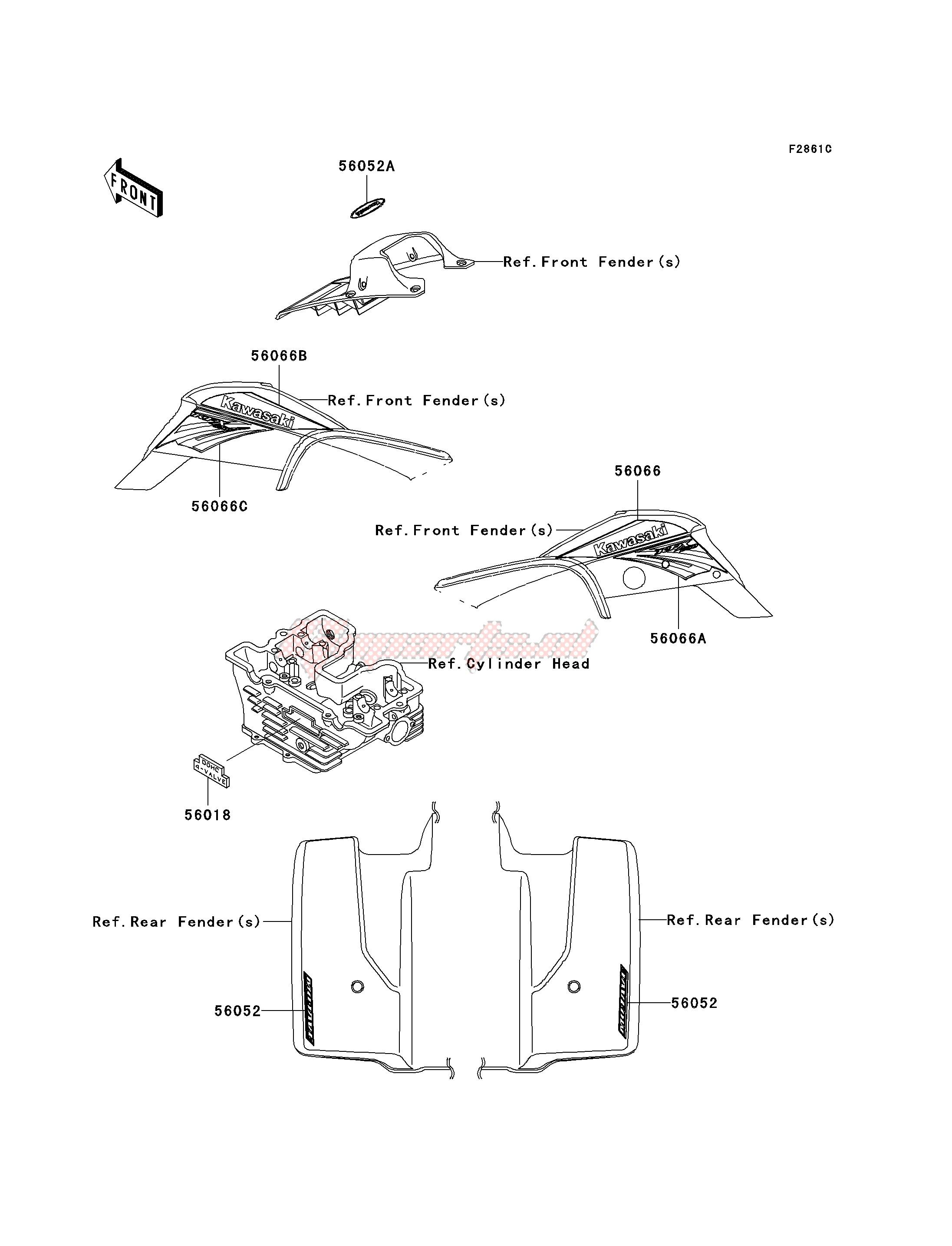 DECALS-- KSF250-A18- - image