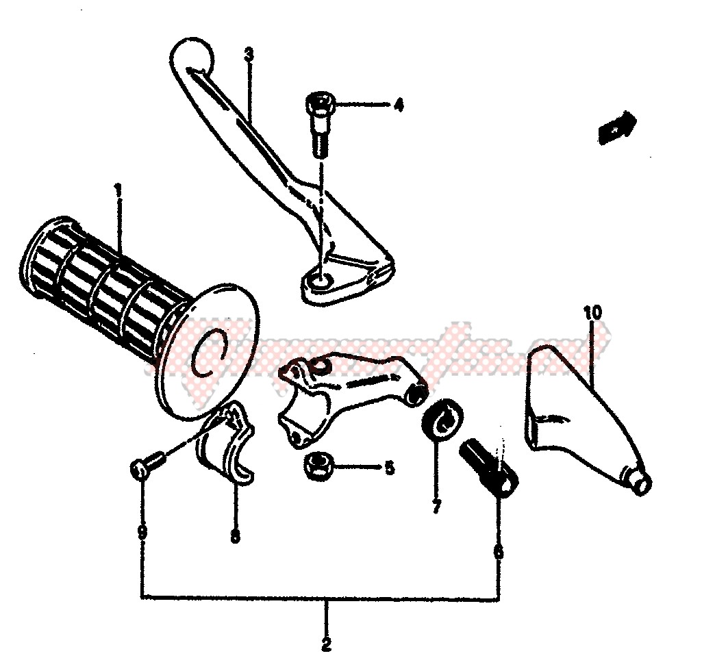 LEFT HANDLE GRIP (MODEL F) image