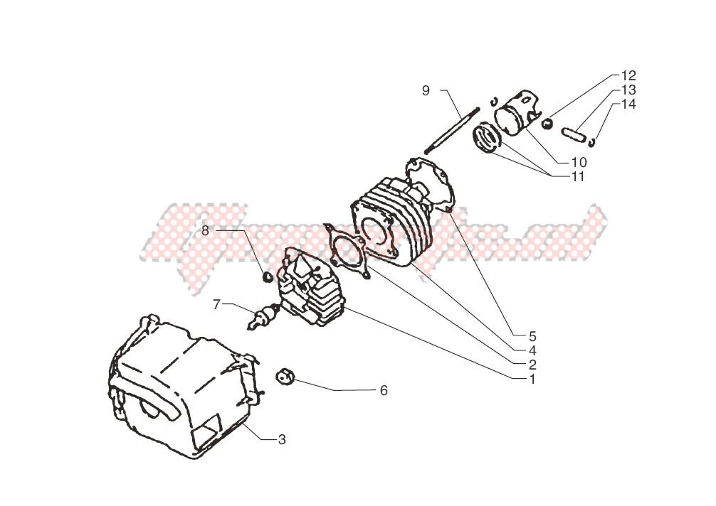 Cylinder-piston-wrist pin assy. image