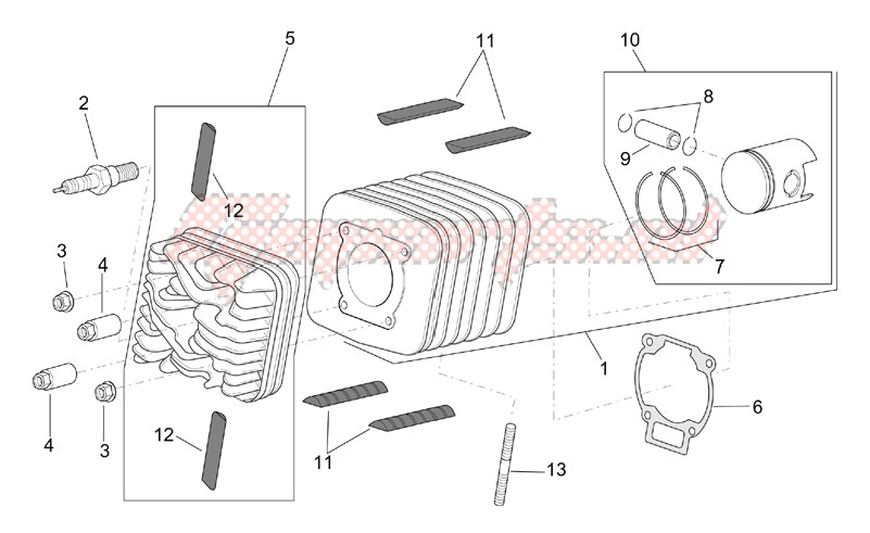 Engine-Head - Cylinder - Piston