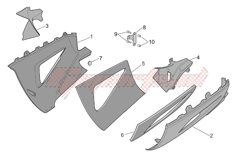Frame-Central body - Lower fairings