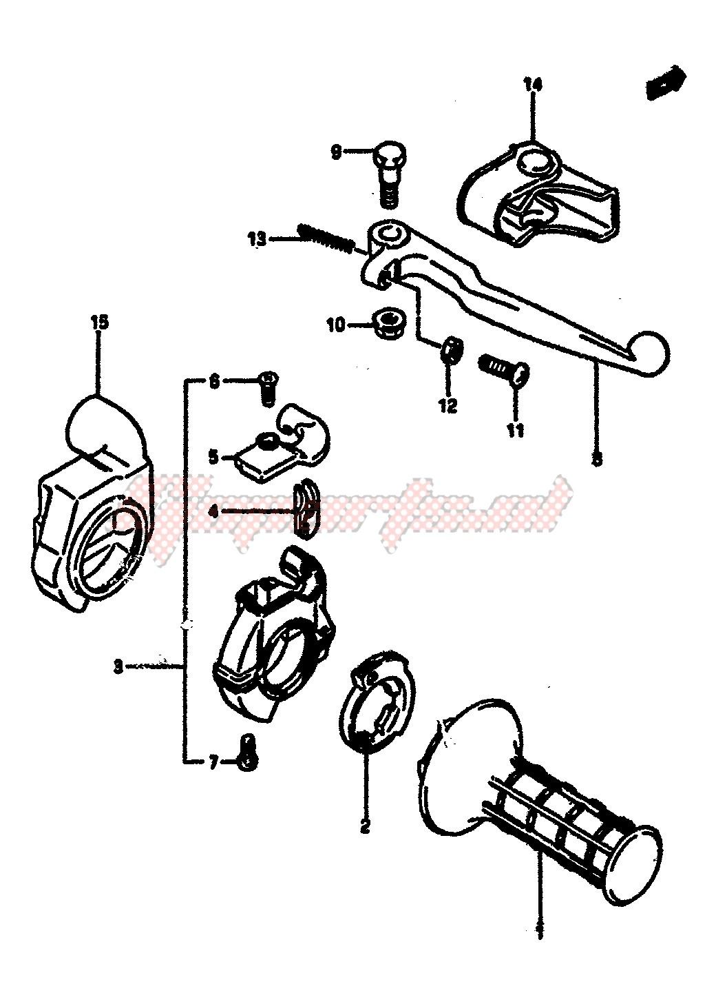 RIGHT HANDLE SWITCH (MODEL F) blueprint