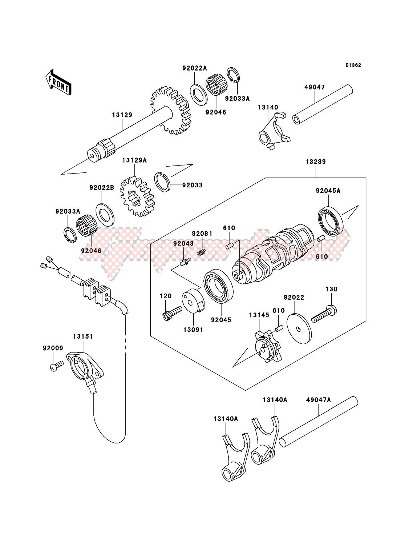 Gear Change Drum/Shift Fork(s) image