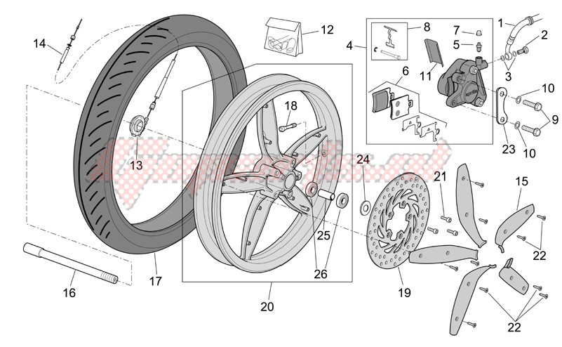 Suspensions - Wheels-Front wheel - disc brake