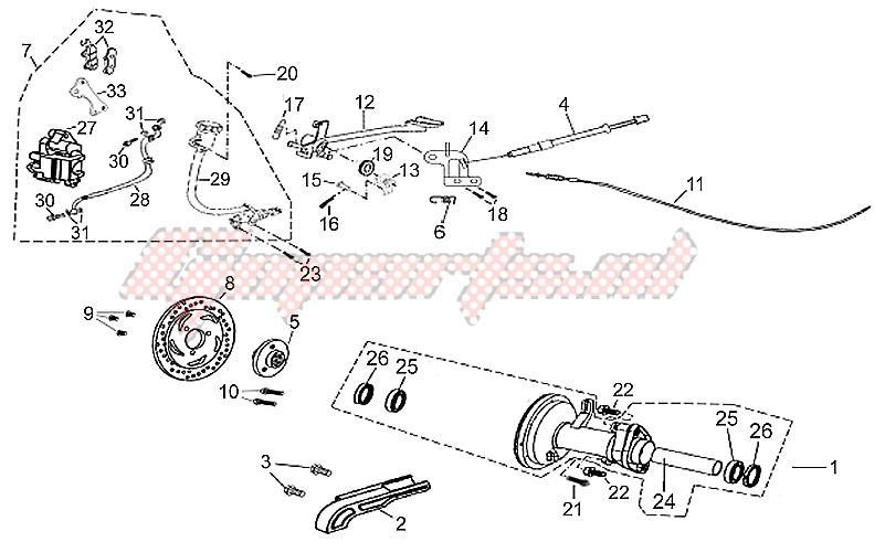 Rear brake image