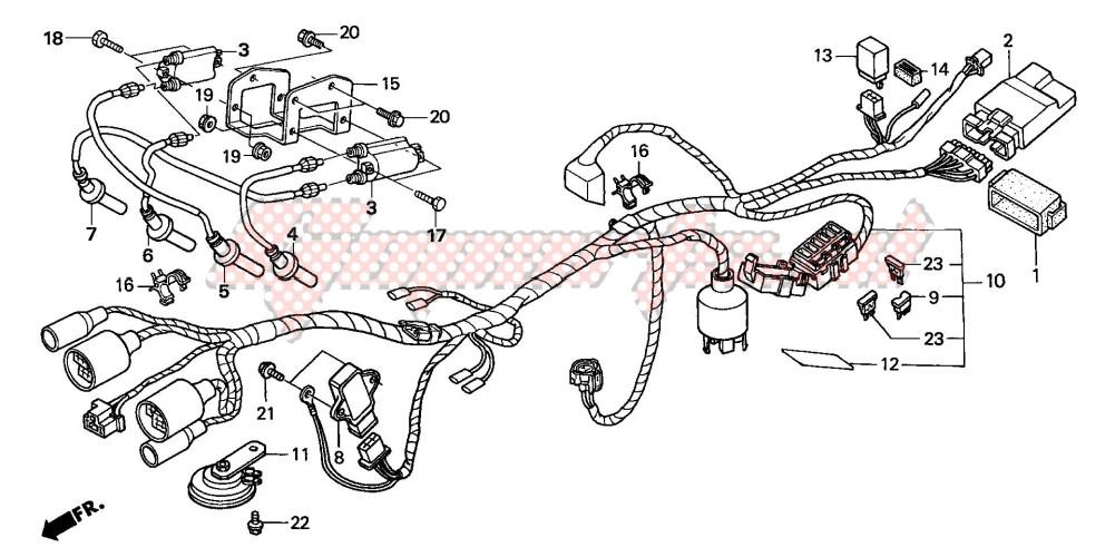 WIRE HARNESS (CB600F22) blueprint