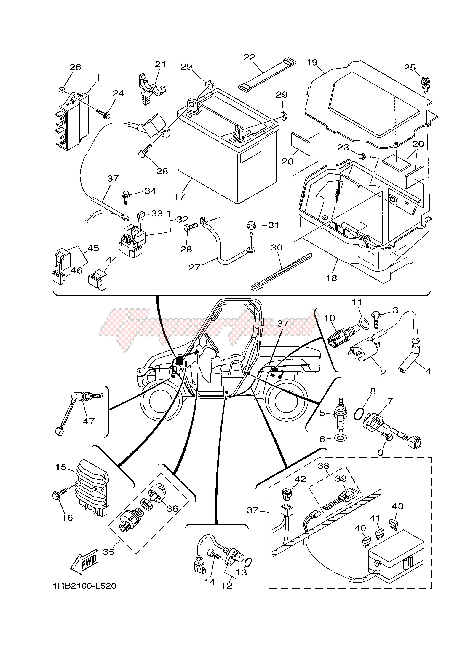 yamaha atv wiring diagram for starters yamaha rhino atv wiring diagram wiring diagrams table  yamaha rhino atv wiring diagram
