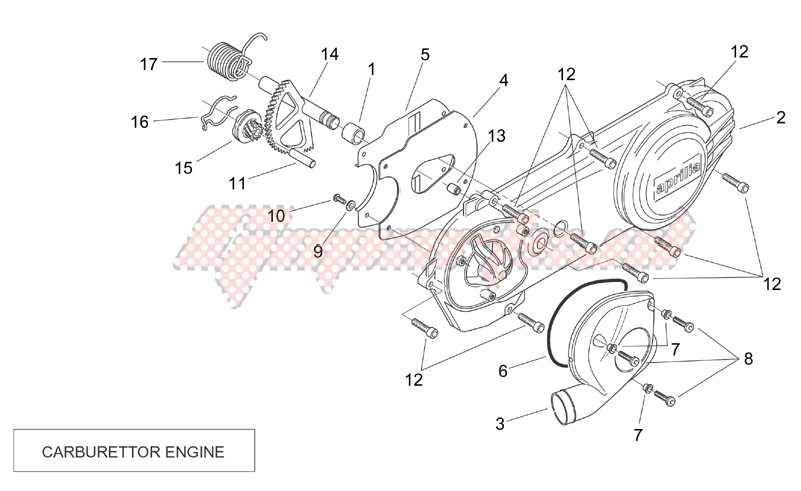 Engine-Transmission cover (Carburettor)