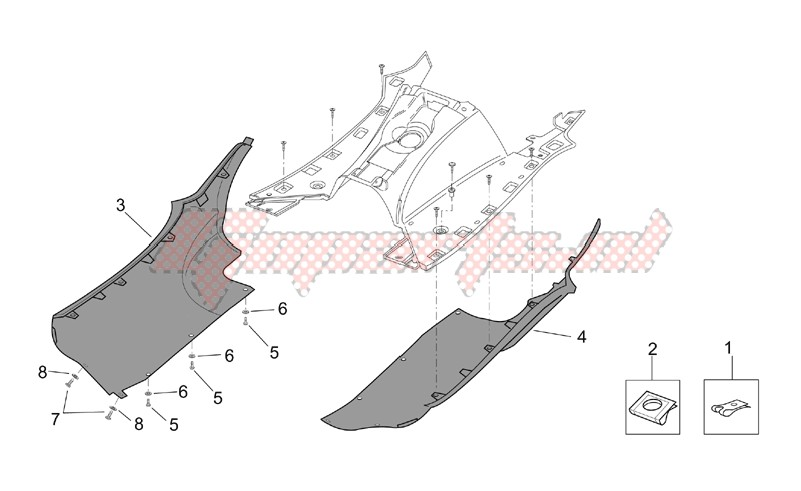 Frame-Central body - Side fairings