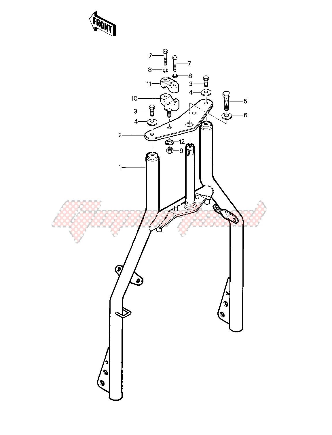 FRONT FORK -- 81-82 KLT200-A1_A2_A3- - image