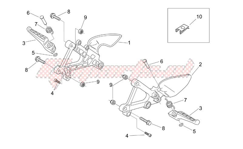 Front footrests image