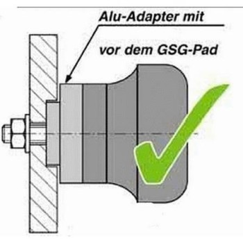 Product image: GSG-Mototechnik - 105490-H8 - Crash protectors Honda VFR 750 (RC36) 90-93