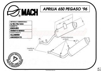 Product image: Marving - 01AA59 - Silencer  AMACAL 650 PEGASO Approved - Sold as 1 pair Ø100