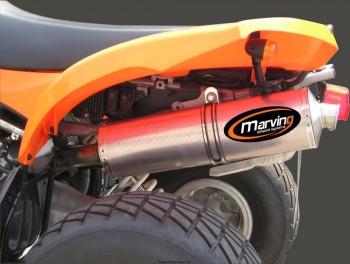 Product image: Marving - 01ALK57 - Silencer  ATV LINE KVX 400 2003 > Approved Big Oval Alu