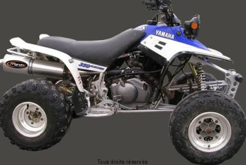 Product image: Marving - 01ALY49 - Silencer  ATV LINE YFM 350 WARRIOR Approved Big Oval Alu