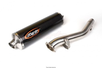 Product image: Marving - 01CAS10EU - Silencer  SUPERLINE 600 BandIT Approved Big Oval Carbon