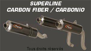 Product image: Marving - 01CAS81EU - Silencer  SUPERLINE SV 650 03/05 Approved Big Oval Carbon
