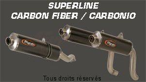 Product image: Marving - 01CAT46EU - Silencer  SUPERLINE SPEEDTRIPLE 03 Approved Big Oval Carbon