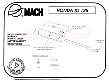 Product image: Marving - 01E1V - Silencer  EDR XL 125 Approved Black