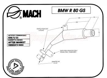 Product image: Marving - 01E22V - Silencer  EDR R 80 GS Not Approved Black