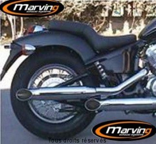 Product image: Marving - 01HCTM03 - Exhaust CUSTOM VT 600 SHADOW Complete exhaust pipe  Not Approvede Exhaust Damper Chrome