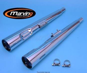 Product image: Marving - 01S2038BC - Silencer  MARVI GSX 400 F Approved - Sold as 1 pair Chrome