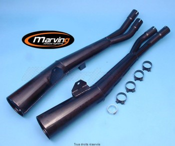 Product image: Marving - 01S2044 - Silencer  MASTER GSX750/1100 KATANA Approved - Sold as 1 pair Black