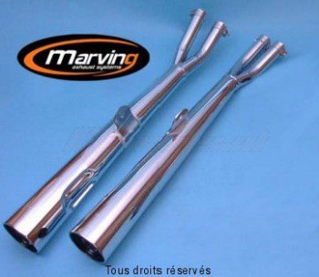 Product image: Marving - 01S2107 - Silencer  MARVI GS 850 79 (Cardan) Approved - Sold as 1 pair Chrome