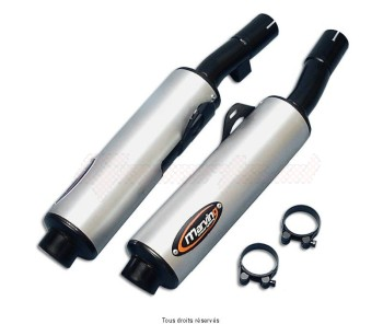 Product image: Marving - 01S2111 - Silencer  Rond GSX 750 F 90 Approved - Sold as 1 pair Rond Ø100 Black Cover Alu