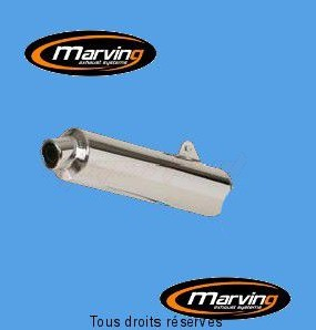 Product image: Marving - 01S2138 - Silencer  Rond RF 900 R 93/96 Approved Ø104 Chrome Cover Alu