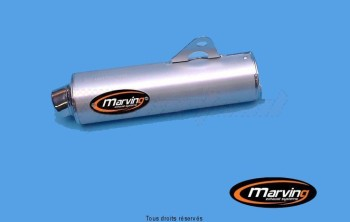 Product image: Marving - 01S2155 - Silencer  Rond RF 600 R 96 Approved Ø104 Chrome Cover Alu