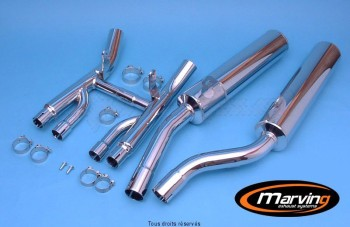 Product image: Marving - 01S2164 - Silencer  Rond GSX 1100 G 91 Approved - Sold as 1 pair Ø100 Chrome