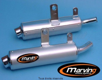 Product image: Marving - 01SA450 - Silencer  AMACAL DR 800 BIG 91 Approved - Sold as 1 pair Ø100 Chrome Cover Alu