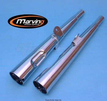 Product image: Marving - 01Y2046 - Silencer  MARVI XS 400 Approved - Sold as 1 pair Chrome